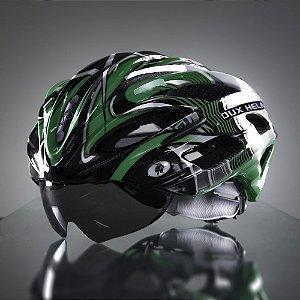 Capacete Bike Dux Helm Helmet Para Ciclista Bicicleta Tamanho G - Verde