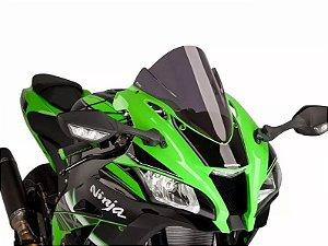 Bolha Racing Em Acrílico Fumê Escura Kawasaki ZX-10R Ninja 2016 em Diante Puig