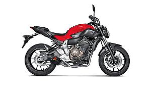 Escapamento Full Akrapovic ponteira em carbono Yamaha MT-07 2014 a 2018
