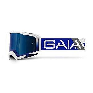Óculos De Proteção Gaia Blue Raze Pró Moto Cross