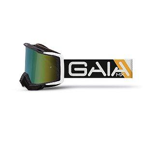 Óculos De Proteção Gaia Dark Orange Pró Moto Cross
