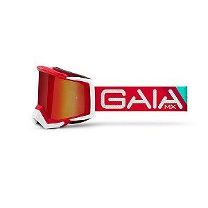 Óculos De Proteção Gaia Red Vulcan Pró Moto Cross