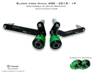 Slider com Nylon Rotativo Kawasaki Ninja 400 Procton Racing