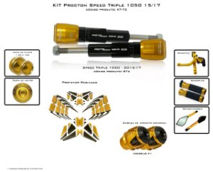 Kit Slider Procton Racing Triumph Speed Triple 1050