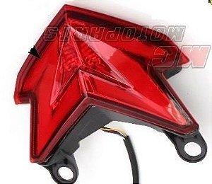 Lanterna com Pista Integrado Kawasaki ZX-6 636 Vermelha