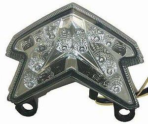Lanterna com Pista Integrado Kawasaki ZX-6 636 Cristal