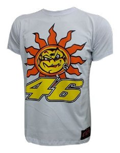 Camiseta Powered Valentino Rossi 46 Sol E Lua Moto GP