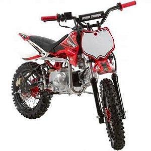 Mini Moto Trilha Cross 100cc Protork Vermelha TR100F