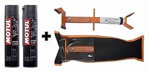 Motul Chain Clean C1 e Chain Lube C2 + Motojack Cavalete