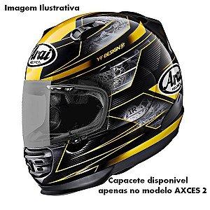 Capacete Arai Helmet Axces 2 Chronus Yellow