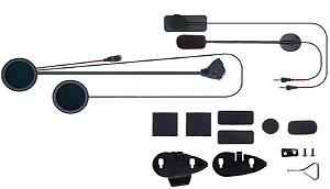 Kit de Áudio Extra de Fixação e Fios para Intercomunicador