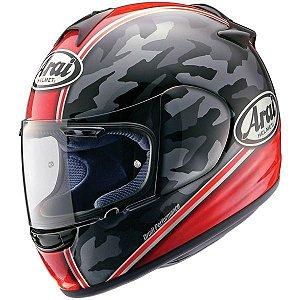 Capacete Arai Helmet Chaser Camouflage Red Vermelho