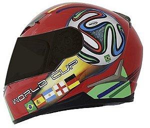Capacete Nasa Sh-821 World Cup Vermelho