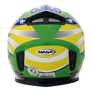 Capacete Nasa Sh-881 Brasil