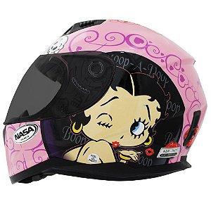 Capacete Nasa Sh-881 Betty Boop Rosa