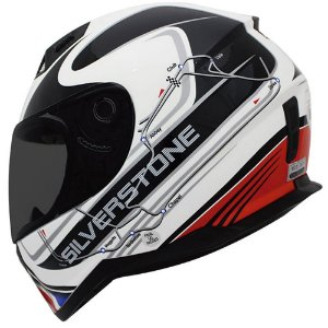 Capacete Nasa Sh-881 Silverstone