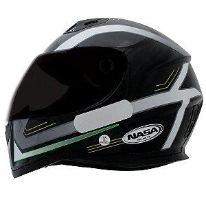 Capacete Nasa Sh-881 Elegance Preto e Verde