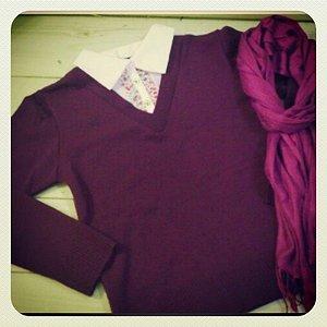 Blusa camisete em malha roxa M