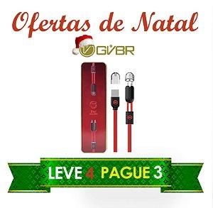 Ofertas de Natal - Compre 3 e leve 4 - Cabos 2 em 1 Android e Iphone