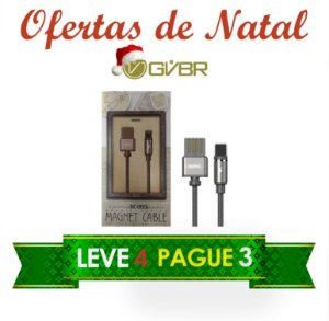 Ofertas de Natal - Compre 3 e leve 4 - Magnetic Cables para Iphone