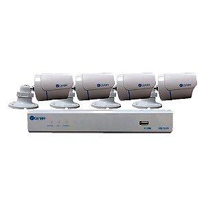 Kit NVR GVBR com 4 Câmeras IP