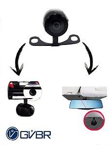 Câmera de Ré Auxiliar Para Retrovisores 5.0″ e Fiação