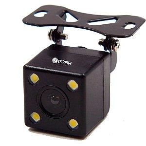 Câmera Auxiliar de Ré com Fiação Retrovisor 4.3″ Silver