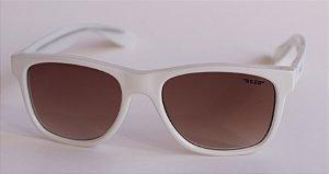 Óculos de Sol clássico Dani -  Branco com lente marrom degradê
