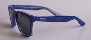Óculos de Sol clássico Dani - Azul com lente espelhada preta