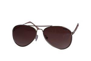 Óculos de Sol aviador Nick - Dourado com lente marrom