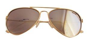 Óculos de Sol aviador Nick - Dourado com lente degradê