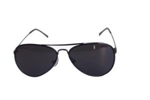 Óculos de Sol aviador Nick - Preto com lente cinza