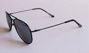 Óculos de Sol aviador Nick - Preto com lente espelhada