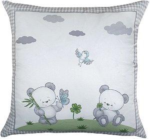 Almofada Cheia Estampada Baby 45x45 Panda A - Lynel