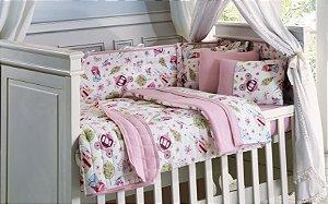 Kit Infantil Berço 10 Peças Baby Malha 30/1 Princesa - Lynel