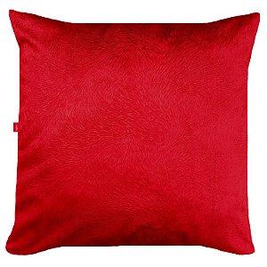 Capa de Almofada Vazia 45x45 Veludo Pena Vermelha - Tularte