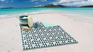 Esteira de Praia e Piquenique Dobrável Dupla Face Beach - Corttex