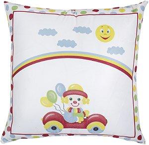 Almofada Cheia Estampada Baby 45x45 Palhacinho A - Lynel