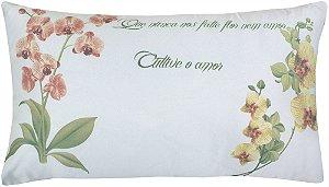 Almofada Cheia Baguete Estampada 30x50 Botanic - Lynel