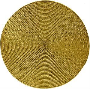 Lugar Americano Redondo Today 38cm Dourado - Corttex