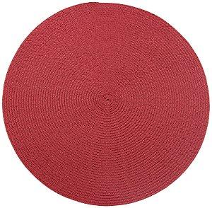 Lugar Americano Redondo Today 38cm Vermelho - Corttex