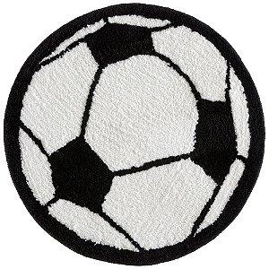 Tapete Redondo Fantasia Antiderrapante 60cm Futebol - Corttex