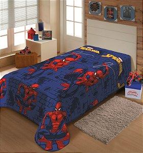 Manta Juvenil Soft Marvel Solteiro Homem Aranha - Jolitex