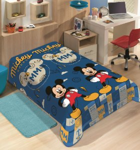 Manta Juvenil Soft Disney Solteiro Mickey Mouse - Jolitex