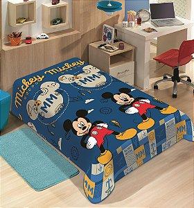Manta Juvenil Soft Disney Solteiro Mickey Mouse - Jolitex