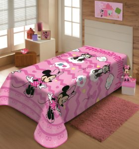 Manta Juvenil Soft Disney Solteiro Minnie Cute - Jolitex
