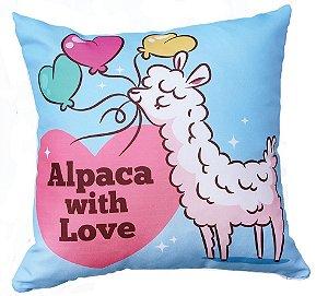 Capa de Almofada Vazia Oxford Lhama 45x45 Love - Izaltex