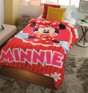 Cobertor Digital HD Com Sherpa Solteiro Disney Minnie - Jolitex