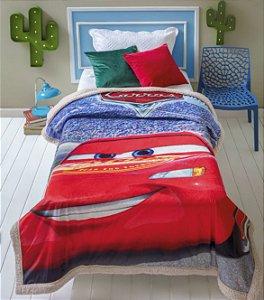 Cobertor Digital HD Com Sherpa Solteiro Disney Pixar Carros - Jolitex