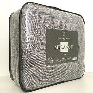 Cobertor Ultra Soft Melange King Cinza - Rozac